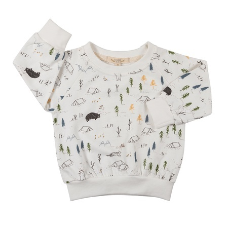 KIDS Red Caribou Terry Sweatshirt - Expedition