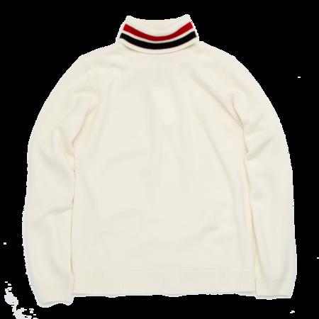 Unisex Aigle Augwool Polo Neck Sweater - Ecru