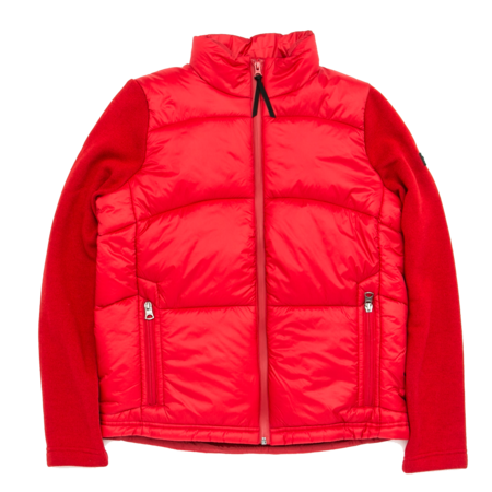 Unisex Aigle Barsain Mixed Fabric Quilted Jacket - Chili