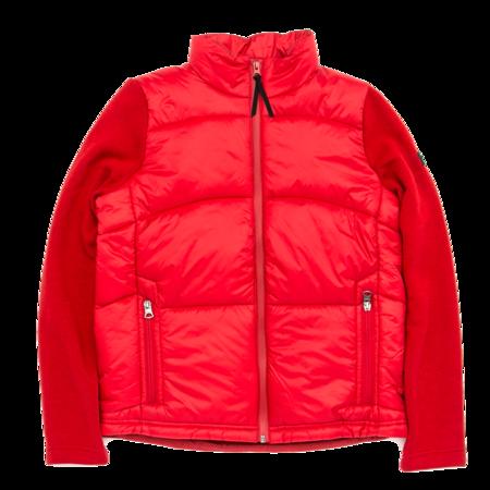 Unisex Aigle Barsain Mixed Fabric Quilted Jacket - Chili