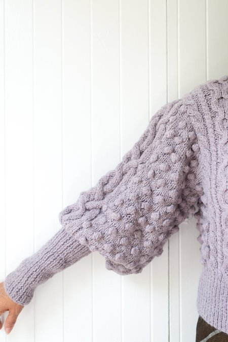 Apiece Apart Lieve Handknit Cable - Lavender
