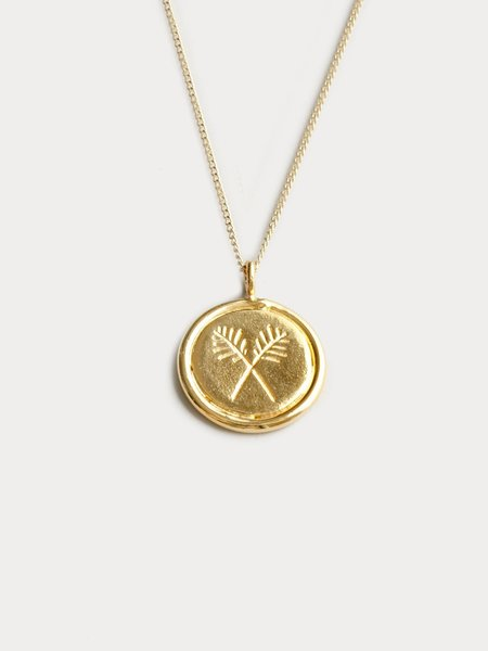 Wolf Circus Palms Necklace - Gold