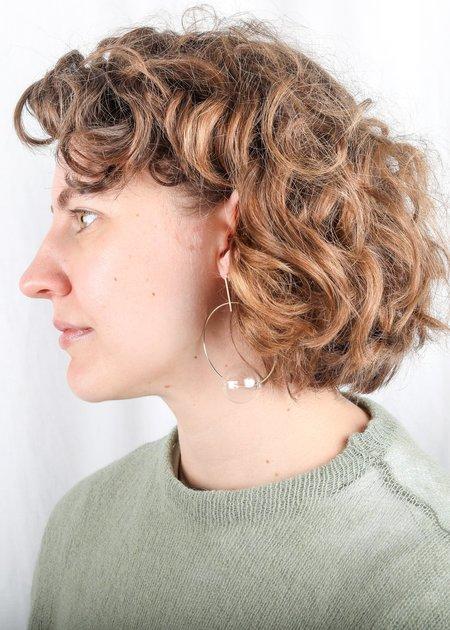 Annika Inez Glass Hoop Earrings - Gold