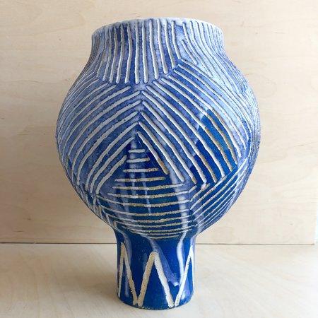 Alice Cheng Edo Moon Vase - Cobalt