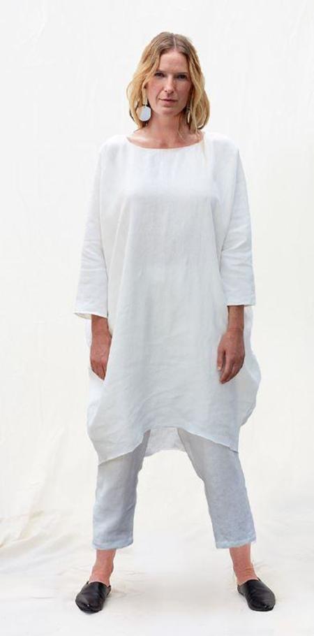 Rachel Craven Short Cocoon Linen Dress - Ivory