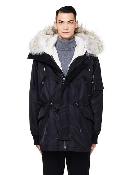 Yves Salomon Rabbit Fur Lined Parka - Black