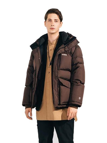 Unisex COVERNAT Goose Down Storm Parka - Brown