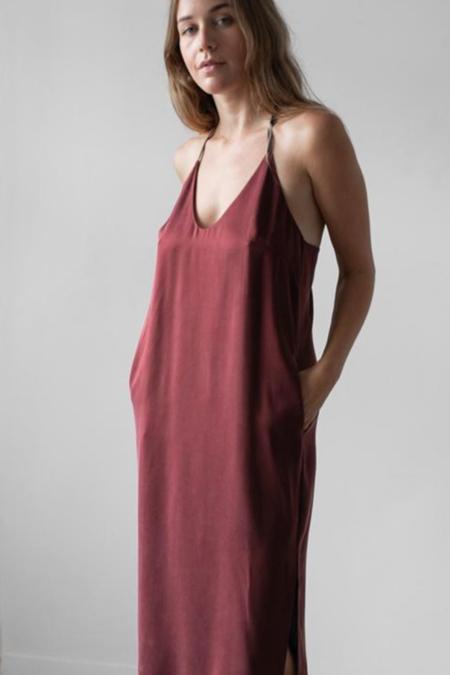 Lunya Washable Silk Slip Dress - Port