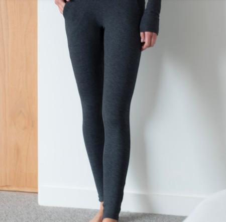 Lunya Restore Pocket Leggings - Charcoal