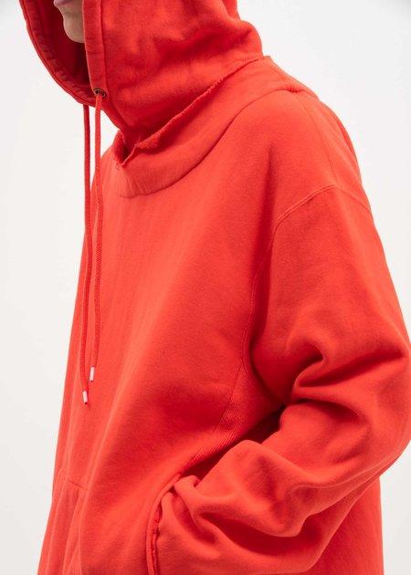 Facetasm Fraying Hoodie - Red