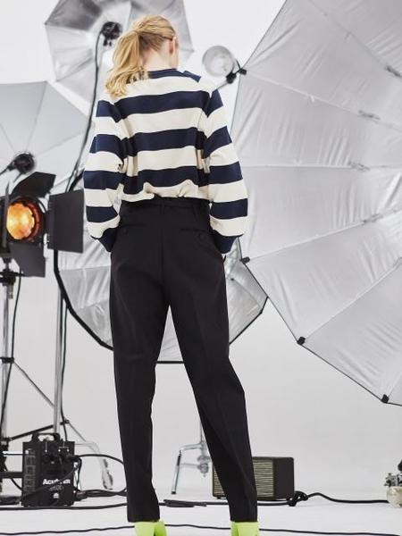 HAEKIM Eternite Stripe Sweatshirt - Navy