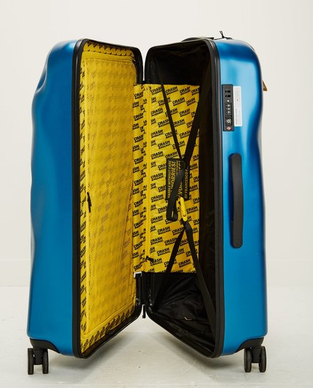 UNISEX CRASH BAGGAGE ICON LARGE 4 WHEELS - METAL BLUE