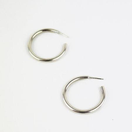 Blade & Knoll Silver Hoops - Silver