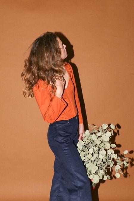 Lykke Wullf Burnt Orange Floral Sierra Top