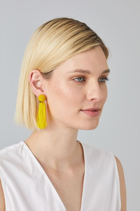 Megan Park Gala Tassel Earrings - Yellow