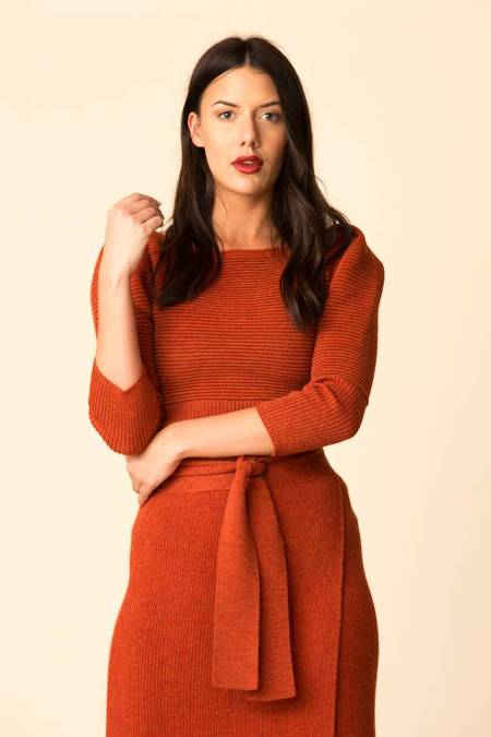 Mara Hoffman Helena Sweater - Rust