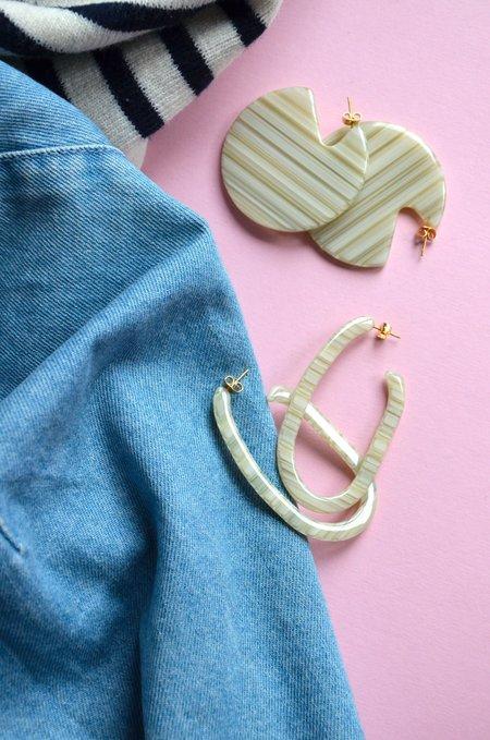 Machete CLARE EARRINGS - RHUBARB