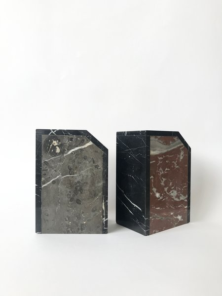 Found by Fourth Vintage Art Deco Marble Bookends