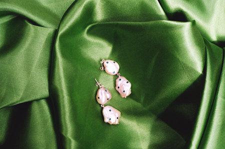 Pauline Pauline Double Pearl Drop Earrings