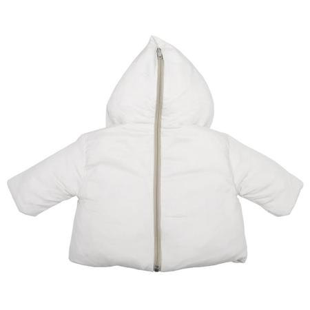 KIDS Album di Famiglia Baby Lino Coat With Zip Back - Rice Off-White