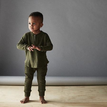 KIDS Bacabuche Baby And Child Melange Mesh Sweatpants - Forest Green