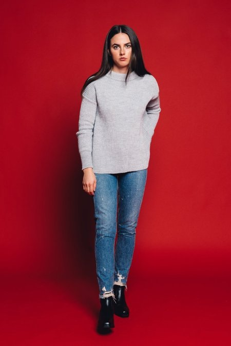 Pipe And Row Staples Beau Sweater - Heather Grey