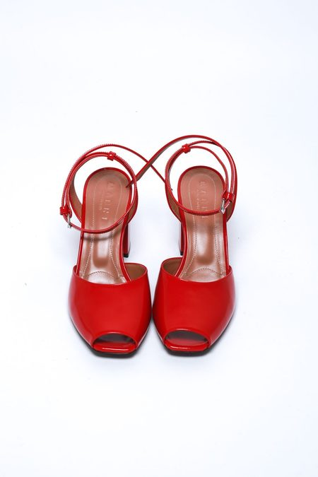 Marni Chunky Heel Sandals - Cherry