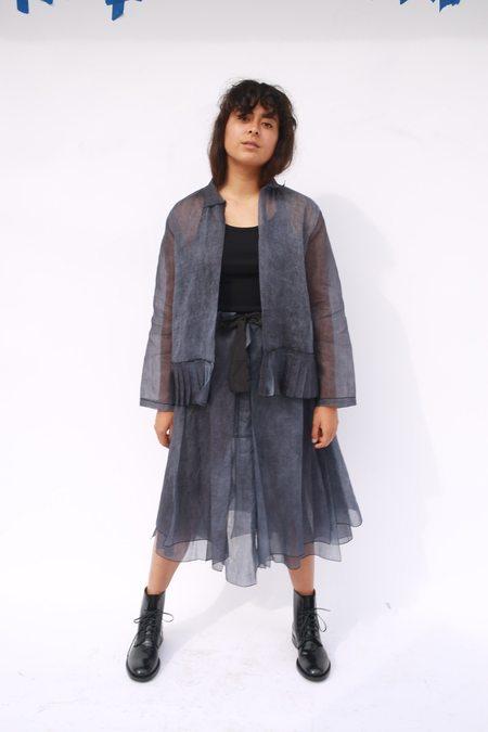 Sara Lanzi Panel Skirt - Cold Dyeing Navy