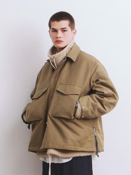 Unisex DAILY INN M-65 Oversized 3M Thinsulate Jacket - Olive