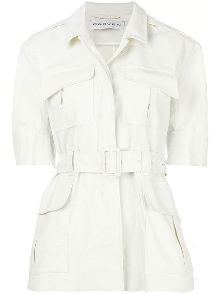 CARVEN Short Sleeved Jacket - Ivory