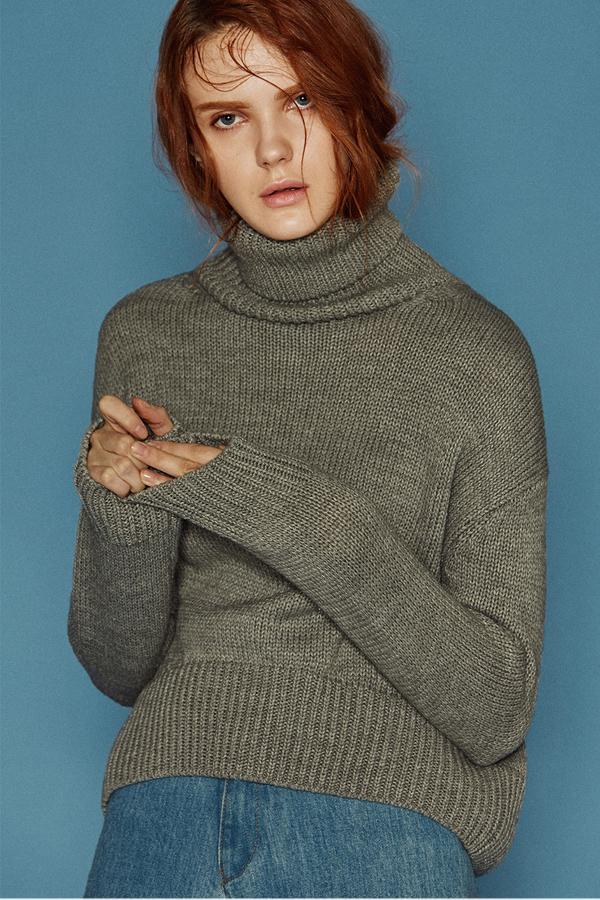ANDERSSON BELL Karin Turtleneck Sweater- Grey