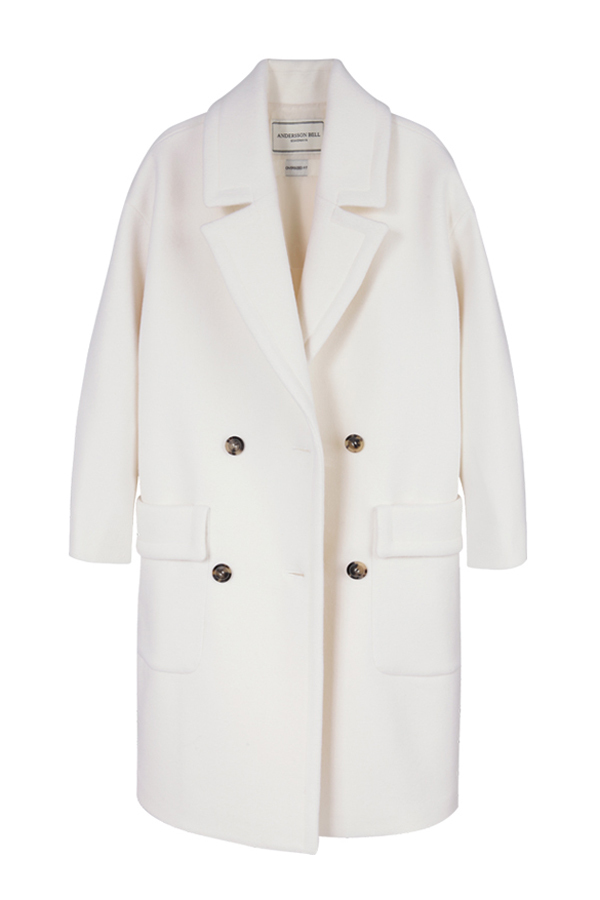 ANDERSSON BELL Alice Oversized Double Breasted Coat- White