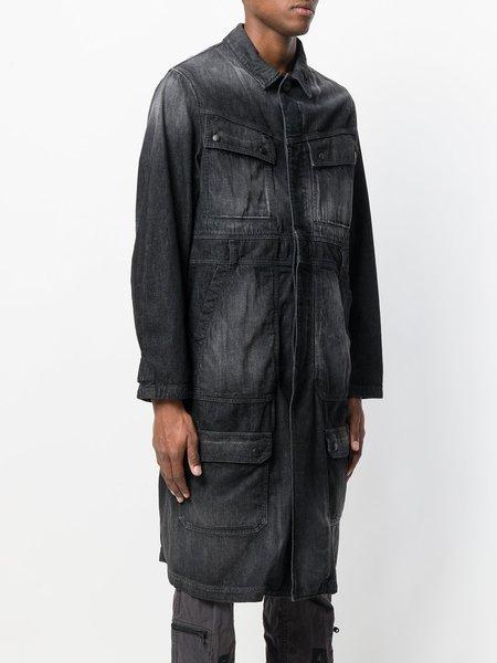 WHITE MOUNTAINEERING Long Denim Coat - black