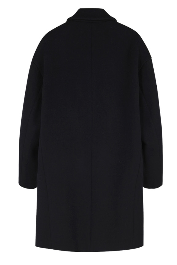 ANDERSSON BELL Johansson Oversized Single Breasted Coat- Black