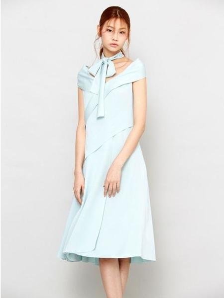Avouavou Ribbon Silk Dress - Mint