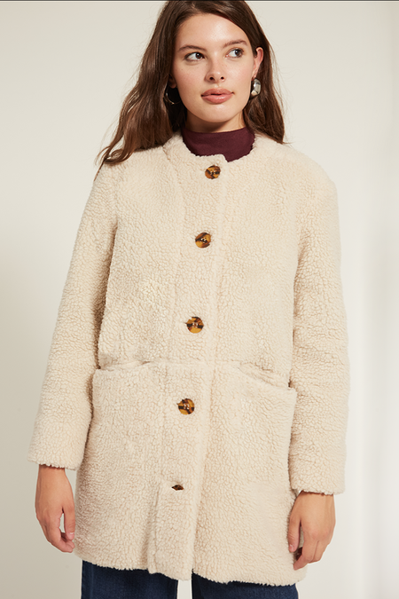 Loup Carly Shearling Jacket - Ivory