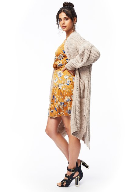 Lost + Wander Over the Moon Cardigan - Tan