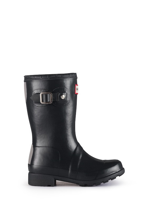 Hunter Original Packable Tour Kids Rain Boots - Black