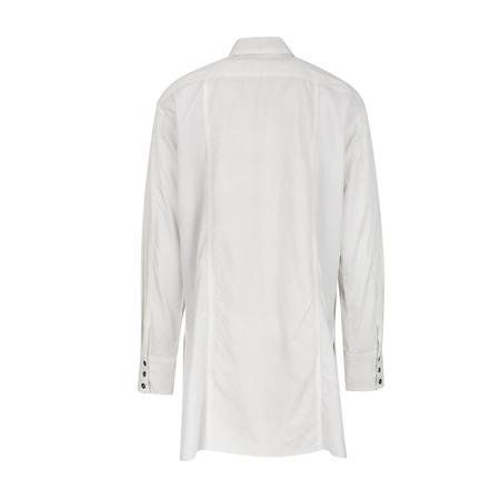 The Viridi-Anne Textured Shop Coat - White
