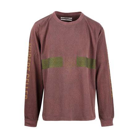 Robert Geller F.C Charlottensburg Long Sleeve T-Shirt - Rust