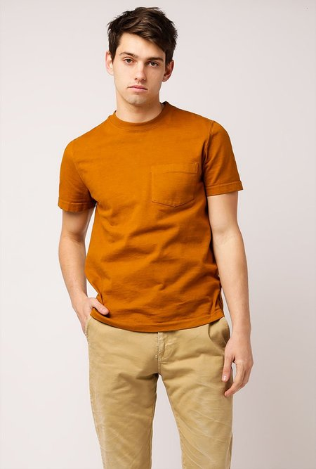 WELCOME STRANGER OD Bison Pocket T-Shirt - Caramel