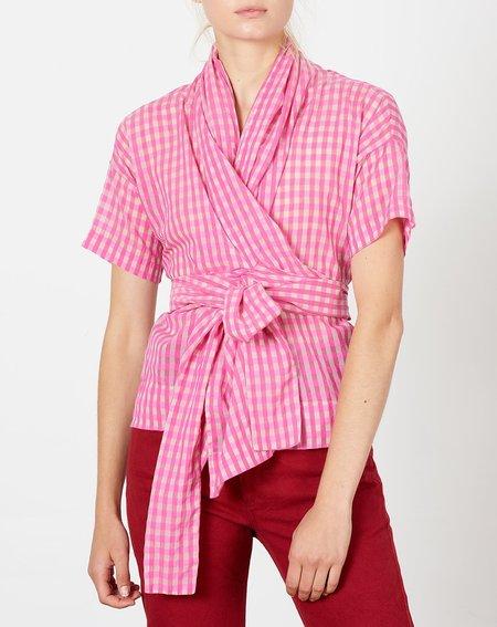 Caron Callahan Julien Top - Pink Gingham