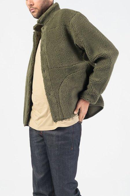 Native North Teddy Fleece Jacket - Olive