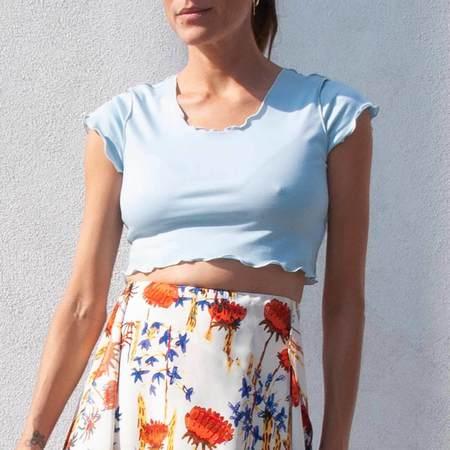 Maryam Nassir Zadeh Mesa T-Shirt - Sky