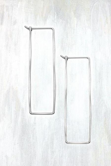 Fail Jewelry Large Rectangle Hoop - Silver