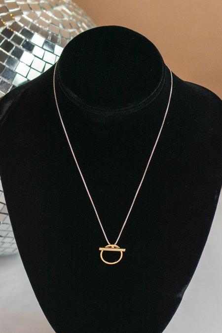 Jenny Bird Rhye Pendant Necklace - Silver/Brass