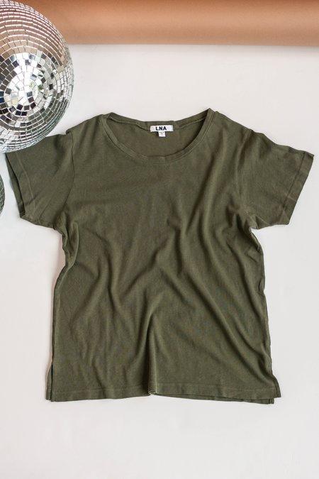 LNA Essential Cotton Mason Crew Tee - Military Green