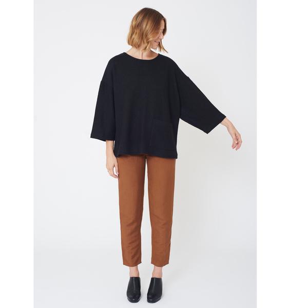 First Rite Box Sweater | Black