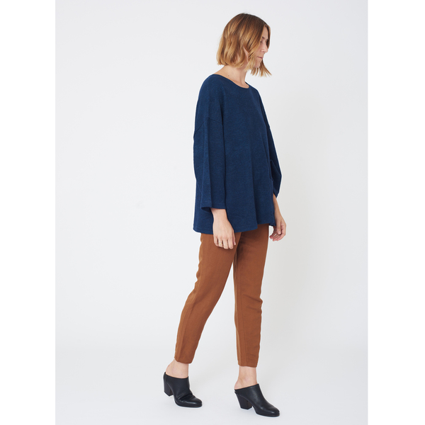 First Rite Box Sweater | Lapis