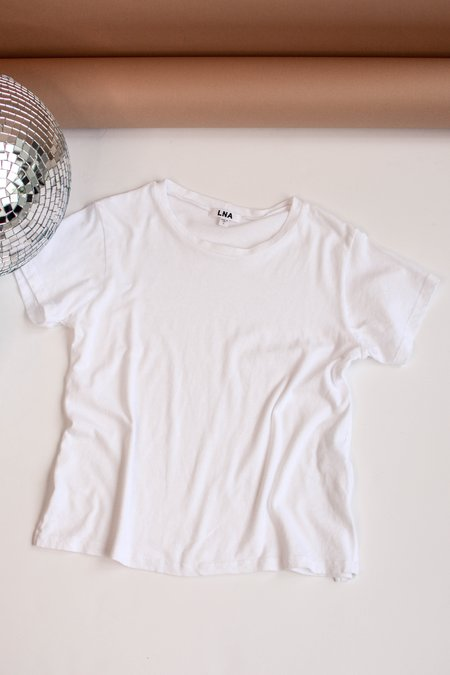 LNA Essential Cotton Mason Crew Tee - White